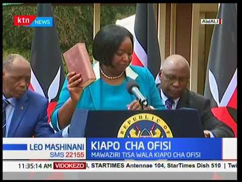 President Uhuru Kenyatta's second term cabinet secretaries sworn in today