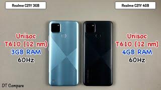 Realme C21Y RAM 4GB vs RAM 3GB Speed Test & Camera Test