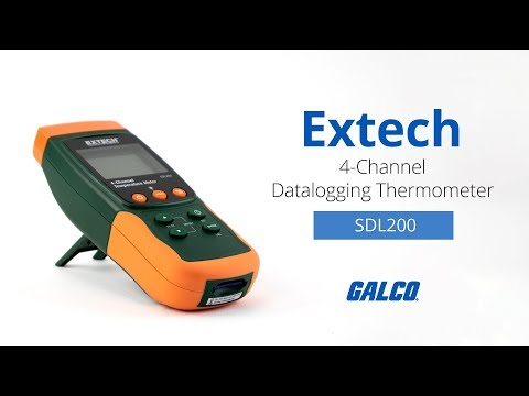 Extech SDL200: 4-Channel Datalogging Thermometer