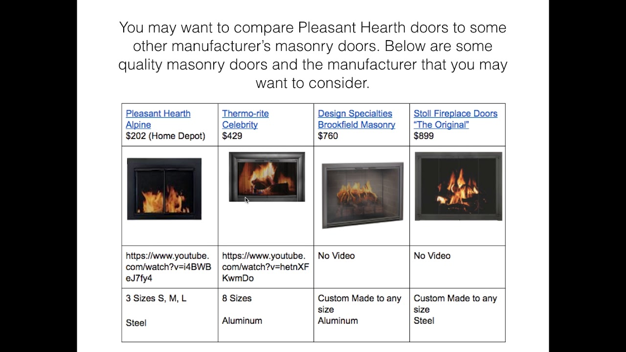 home depot 2017 fireplace door video 3 youtube