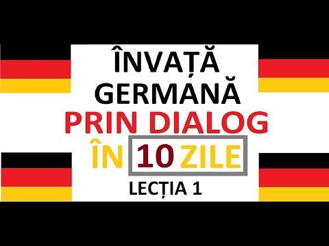 Invata Limba Germana prin DIALOG in doar 10 ZILE   curs complet pentru incepatori    LECTIA 1