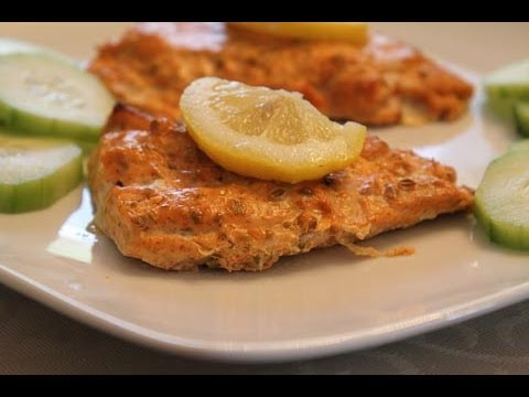 Easy indian recipes spicy yogurt baked salmon youtube forumfinder Image collections