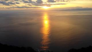 Sf Anna sunset mountain Athos Greece