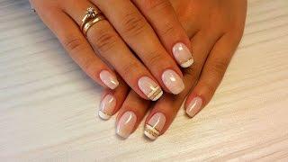 Дизайн ногтей гель-лак Shellac - Декоративный френч, французский маникюр (уроки дизайна ногтей)