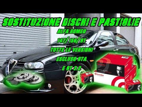 Sostituzione dischi e pastiglie anteriori Alfa Romeo 147/156/GT