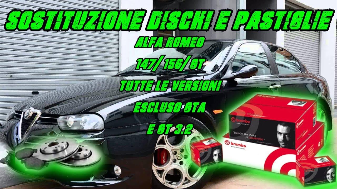 DISCHI FRENO PASTIGLIE FRENO ANTERIORE ALFA ROMEO 147 156 GT Freni
