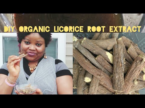 DIY ORGANIC LICORICE ROOT EXTRACT FOR ACTIVE SKIN LIGHTENING