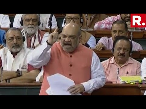 J&K: Home Minister Amit Shah's Blistering Response To Opposition In Lok Sabha Over Article 370