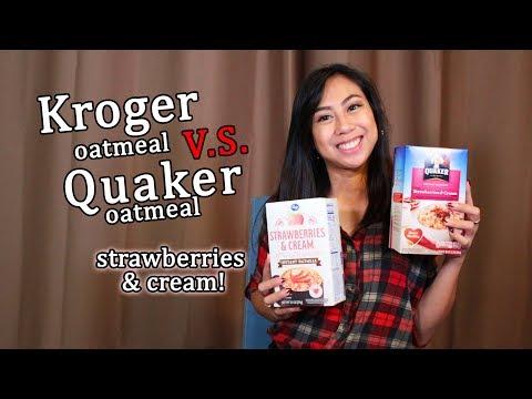 Kroger VS Quaker Oatmeal Strawberries & Cream