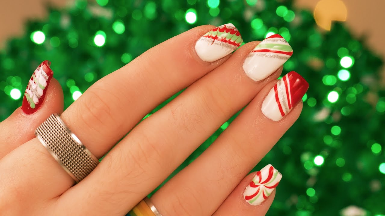Grant Gets Ugly? Christmas Nails - YouTube