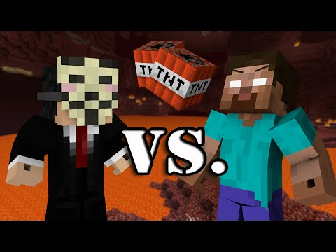 Thumbnail: Hacker VS. Herobrine - Minecraft