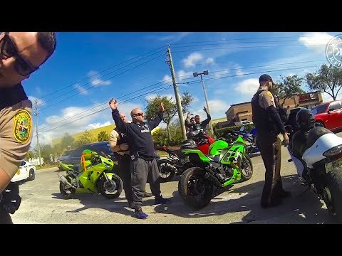Bikers try to get away from cops...Then this happens