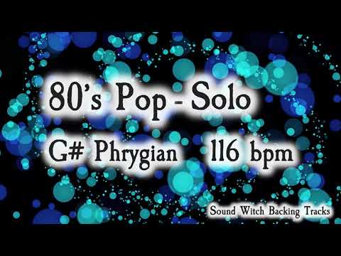80's Pop Backing Track in G# Phrygian - 116 BPM