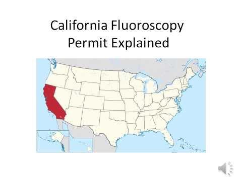 California Fluoroscopy Permit Explained
