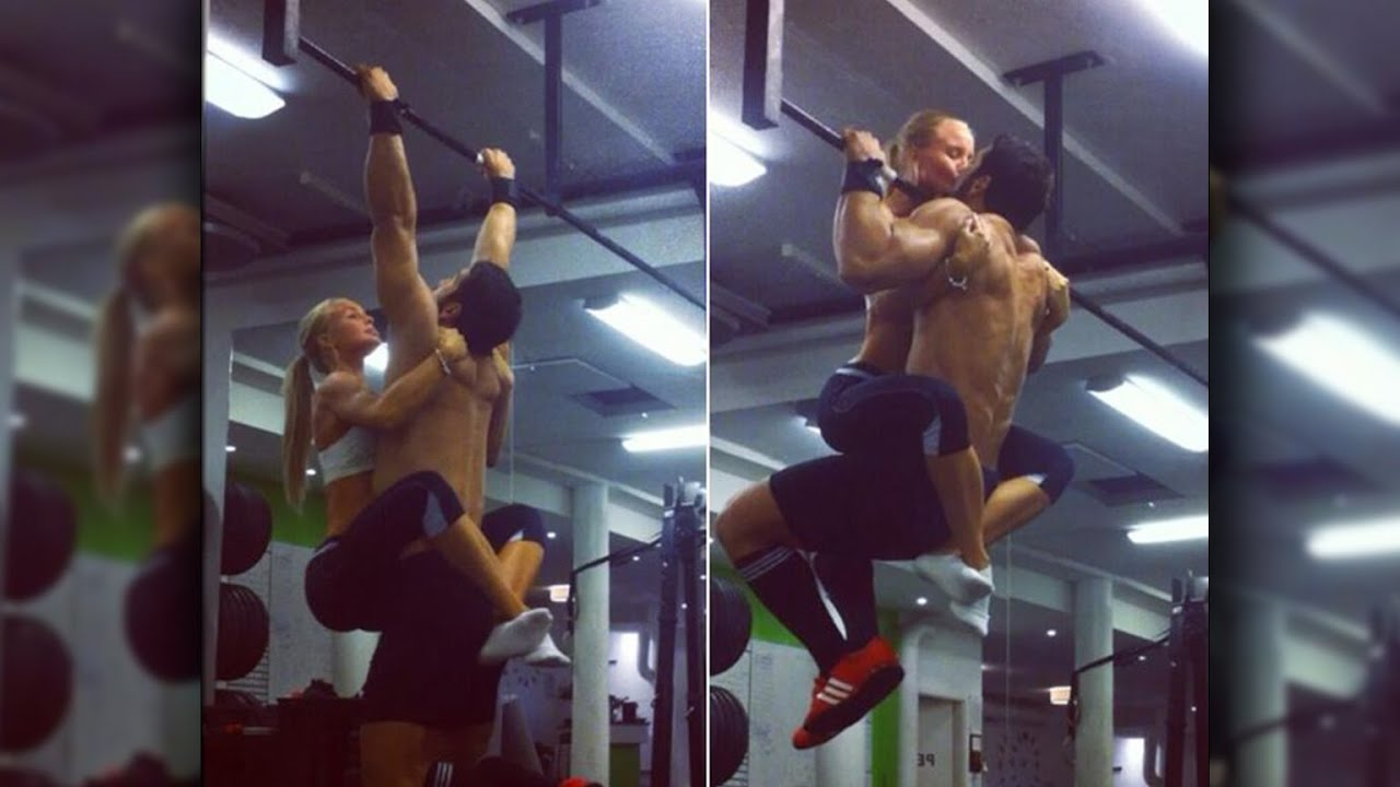 Couple gym having in sex