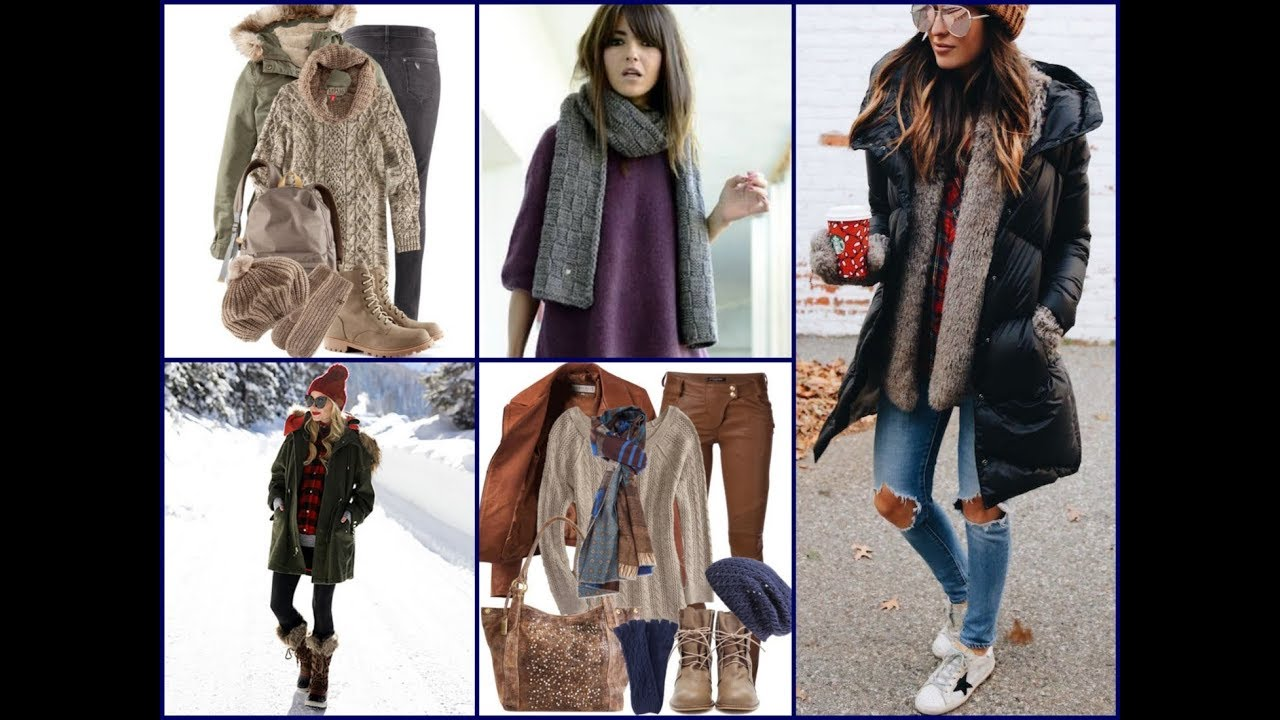 Winter Casual Outfits Ideas , Latest Fashion Trends for Women 2017 / 2018