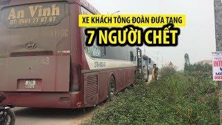 Hiện trường tai nạn thảm khốc xe khách tông đoàn đưa tang khiến 7 người chết