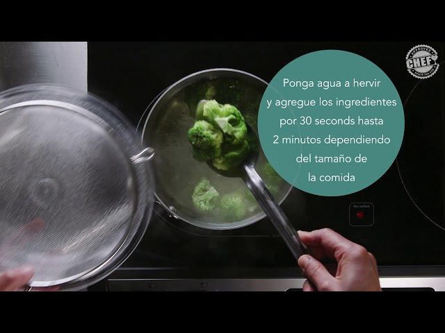 CHEF Culinary Skills: Blanching (Spanish)