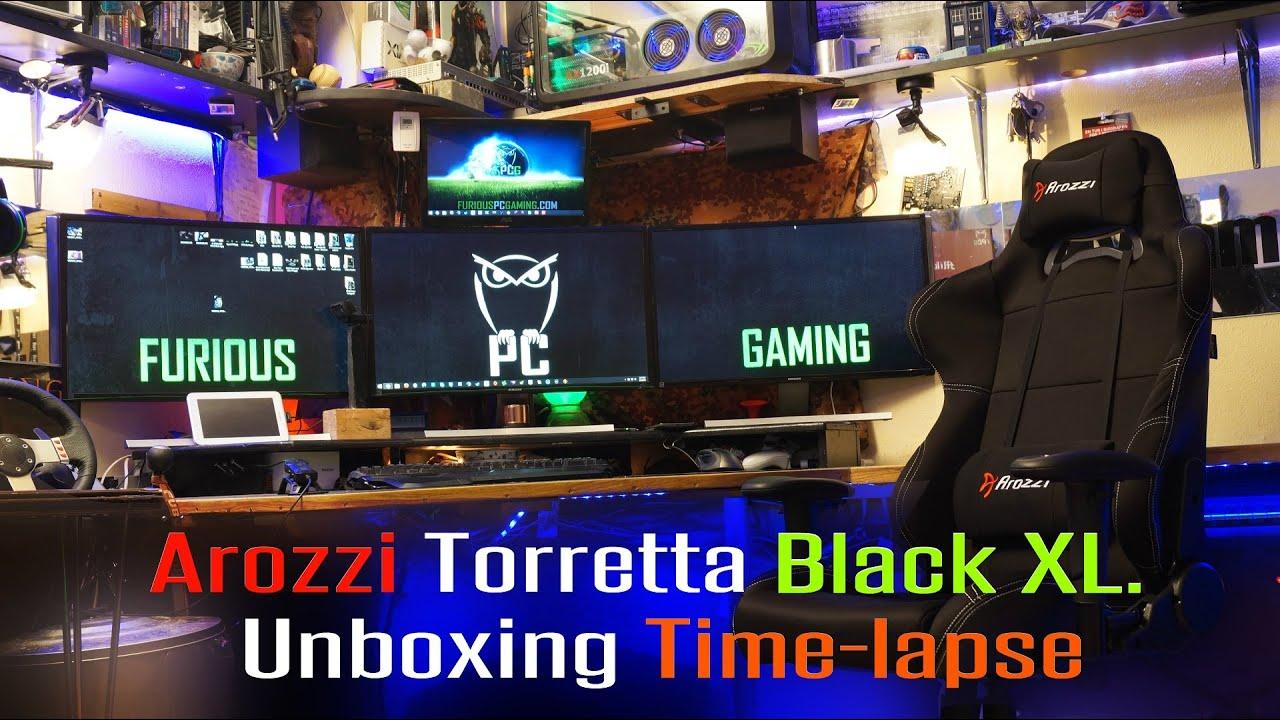 Arozzi Torretta Black Xl Gamer Chair Unboxing Time Lapse