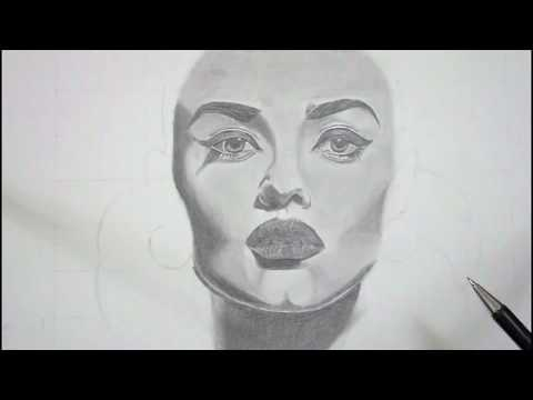 How To Draw A Realistic Looking Portrait | Pencil Drawing Time-lapse