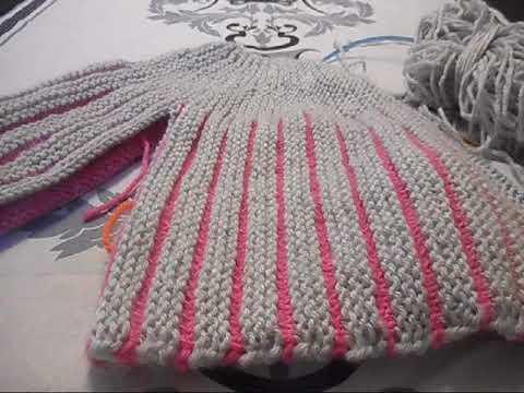 Tuto tricot chaussons citrouille 2 couleurs doovi - Changer de couleur tricot ...