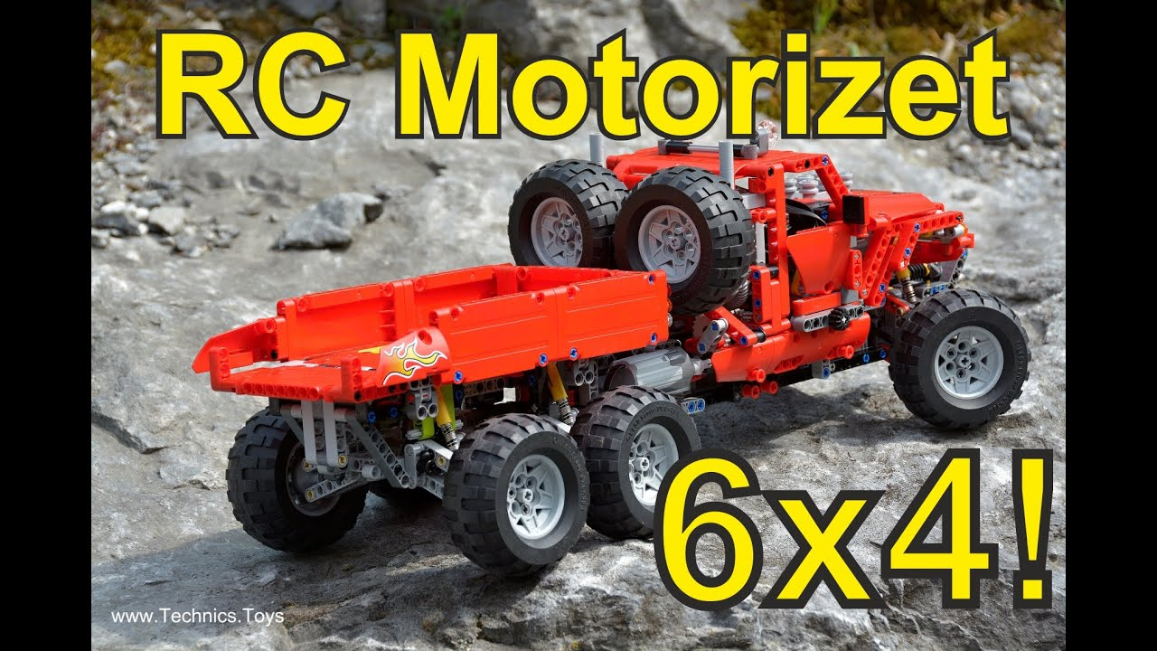 lego pick up 42029 rc motorizet 6x4 off road ride youtube. Black Bedroom Furniture Sets. Home Design Ideas