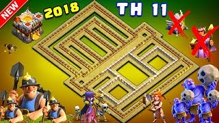 UNDEFEATED Best Th11 War Base 2018 Anti 1 Star/Anti 2 Star With Replay Anti Bowler Anti Everything