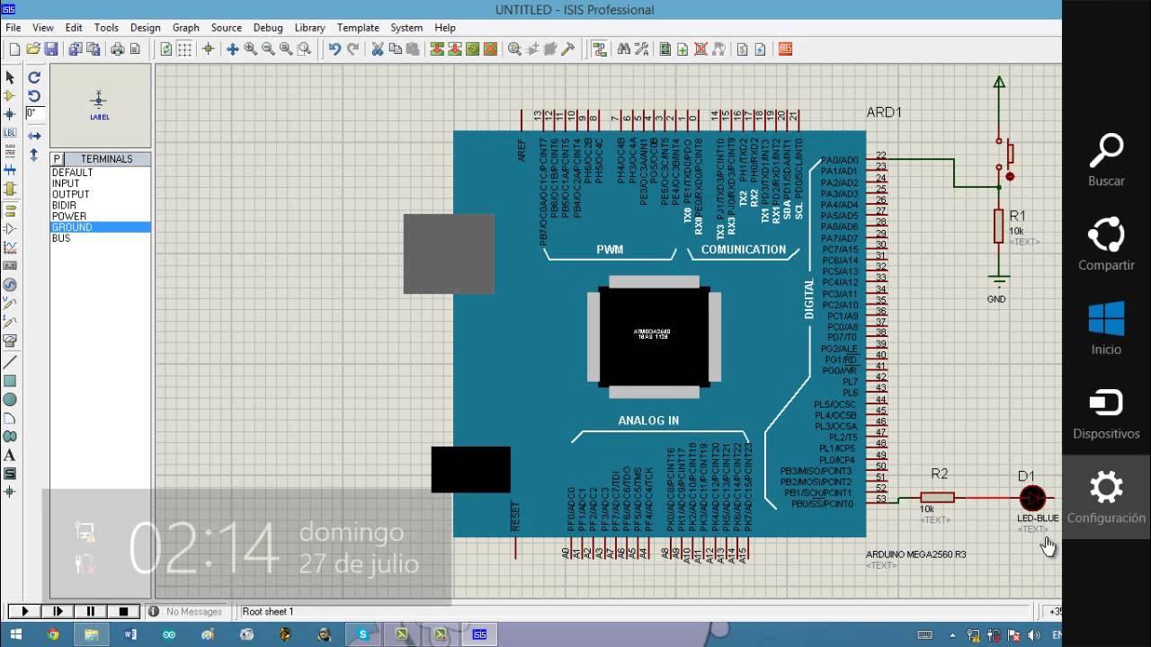 Como simular arduino en proteus tutorial completo