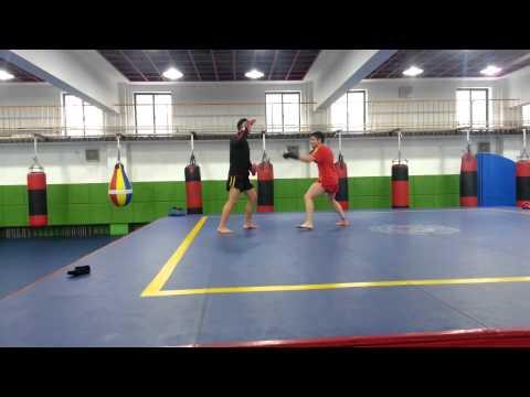 Training with the Beijing Sanda Team