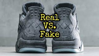 """BEST Real vs. Fake // Jordan 4 """"Kaws"""""""