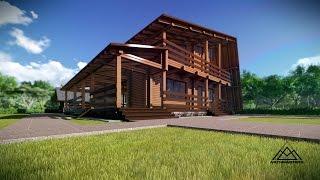 Дом из клееного бруса 200х130, баня из профилированного бруса 200х130(Архитектурно - дизайнерская мастерская ArchMasters http://archmasters.ru/, 2014-09-08T17:00:51.000Z)
