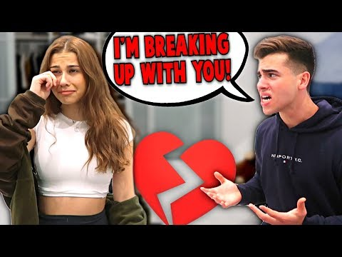 Break Up Prank On Girlfriend.. **She Cried**