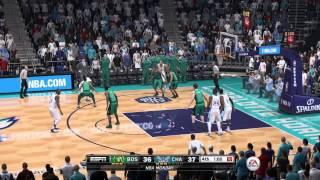 NBA 2015 - Boston Celtics vs Charlotte Hornets - 4th Qrt - NBA LIVE 15 PS4 - HD