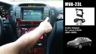 beat sonic mva 23l stereo replacement kit demonstration 2001 lexus ls 430 w factory navigation