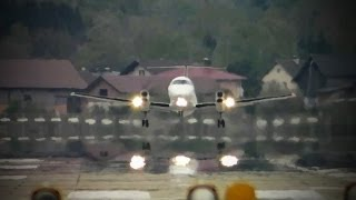 InterSky Embraer EMB-120ER Brasilia HA-FAL --- Abflug am Salzburg Airport (Full HD)