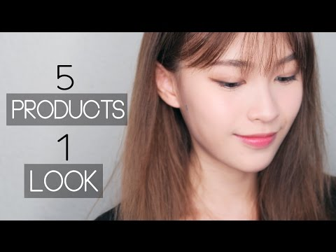 5 Products 1 Look Makeup Tutorial for Beginners