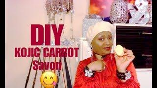 DIY : Kojic carrot meilleur savon unificateur de Teint .....