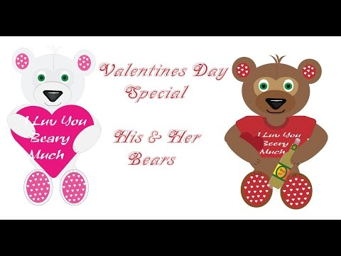 Valentines Day Special - His & Her Bears (Graphic Art)
