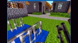 Minecraft: How to make a dog cage with door