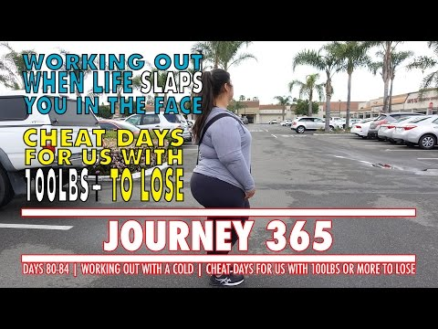 WORKING OUT WHEN LIFE SLAPS YOU IN THE FACE | CHEAT DAYS WITH 100+ TO LOSE | JOURNEY 365 DAYS 80-84