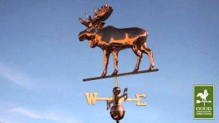 Good Directions 9557p Moose Weathervane - Polished Copper