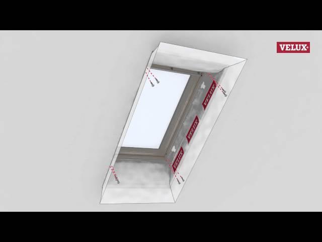 VELUX BBX window collar for vapour barrier installation