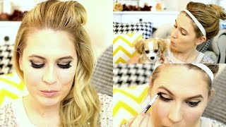 GET READY WITH ME: Smokey Eyes and Nude Contouring Body Shop Makeup AW15 ad