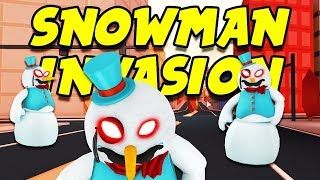 Roblox Jailbreak SNOWMAN PACKAGE INVASION!! + ROBUX GIVEAWAY!