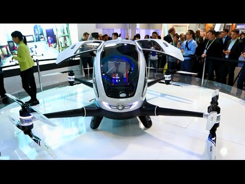 Chinese Company Unveils World's First Passenger Drone at CES 2016