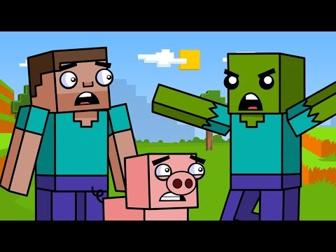 Survival & The Zombie | Block Squad (Minecraft Animation)