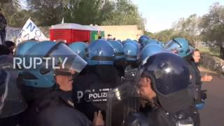 Italy  Tensions high as anti TAP activists block olive grove's removal