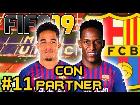 FIFA 19 FC BARCELONA Modo Carrera #11 - QUE PESADO ES EL MADRID - CON PARTNER - 동영상