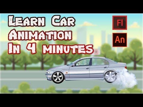 Car Animation tutorial    2D Car Animation In Adobe Animate    Create Car Animation In 4 Min thumbnail