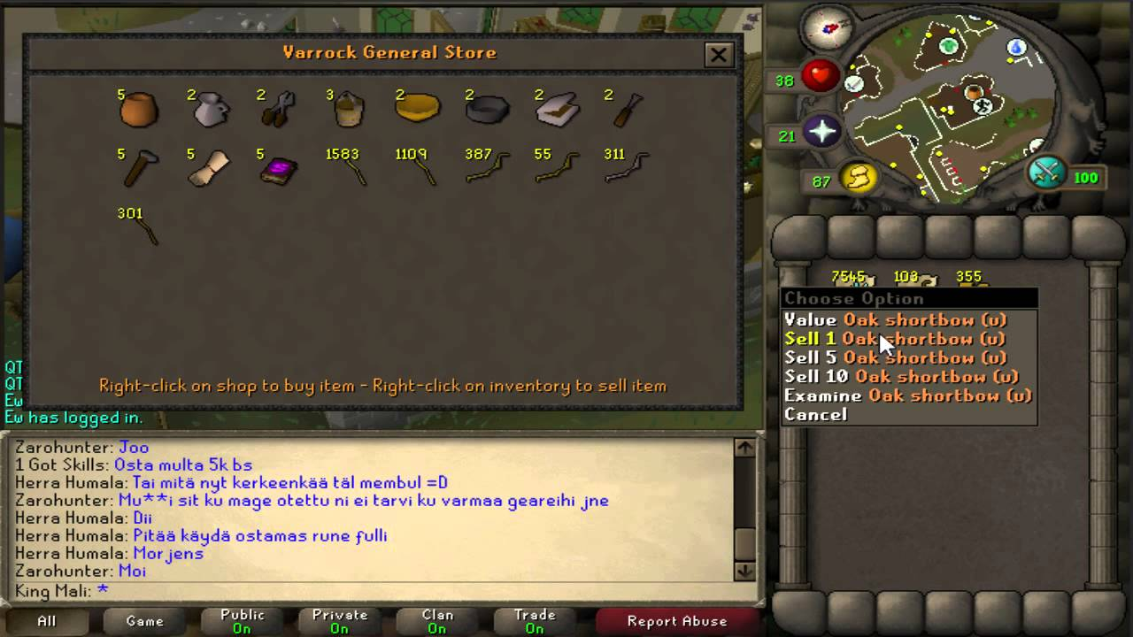 OSRS Tip #1 - Sell Faster In General Store